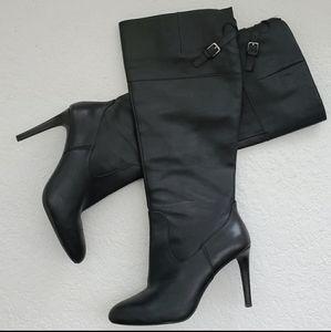 Ralph Lauren Halina Black Leather Boots 7